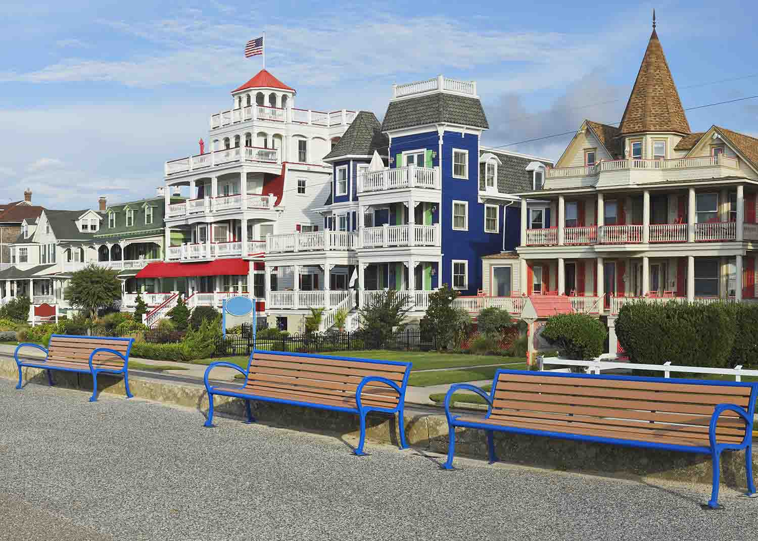 Historic buildings in Cape May, NJ