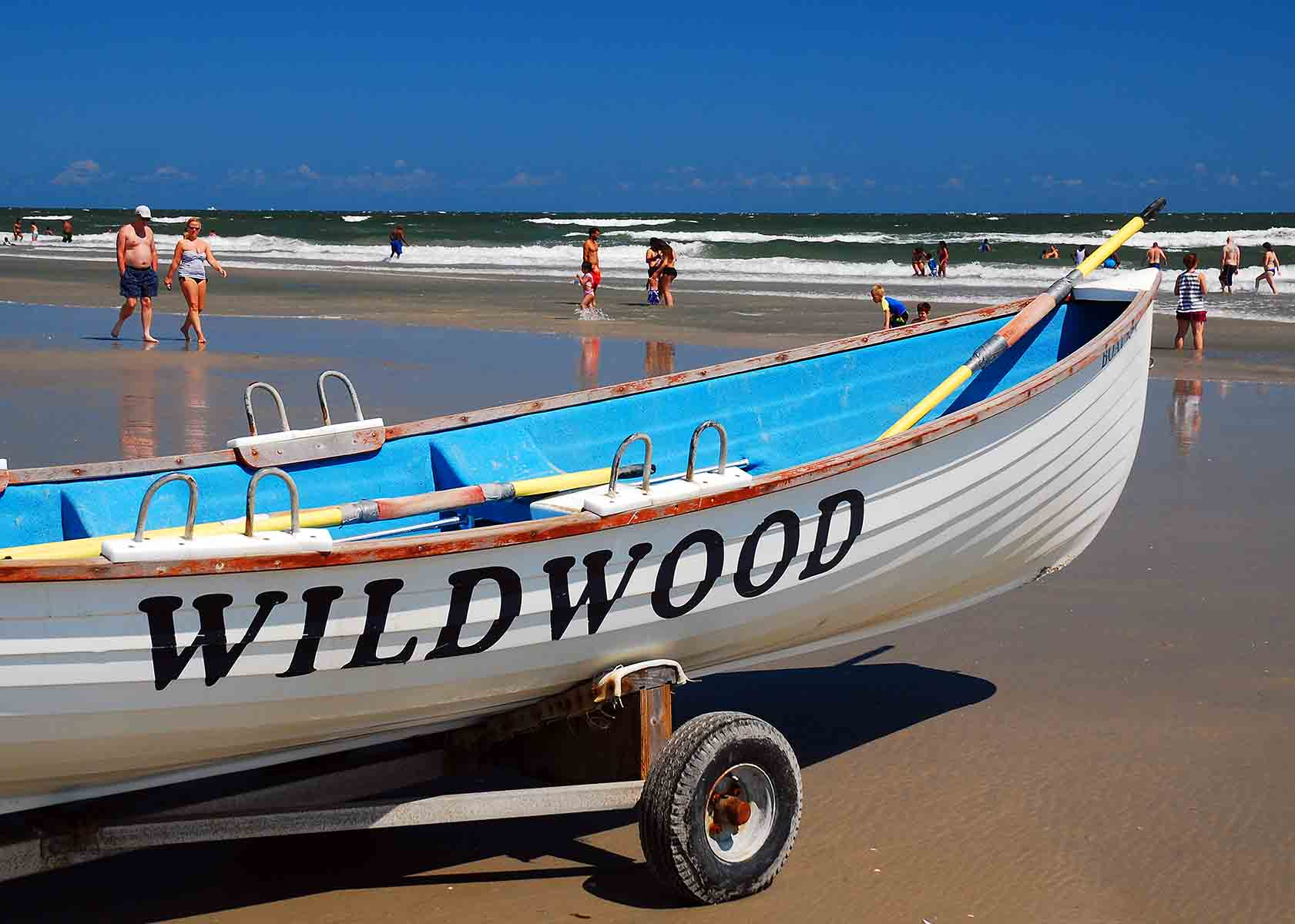 Wildwood boat on the beach