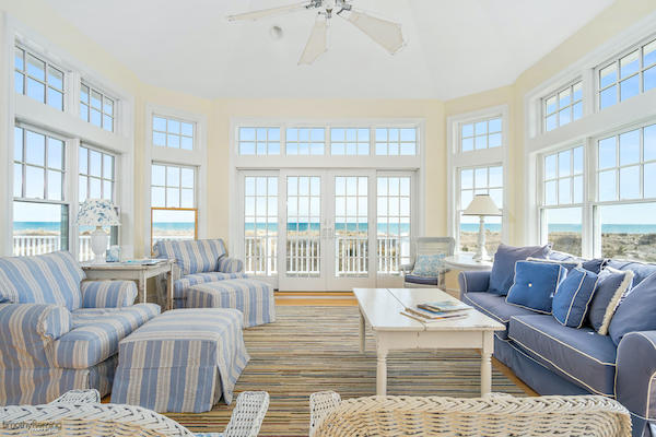 A living room in an Avalon vacation rental