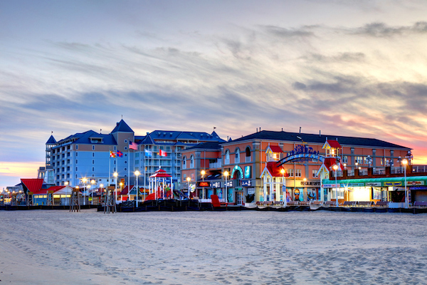 A view of Ocean City, MD